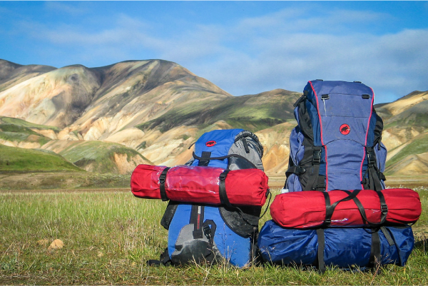 backpacks in the field