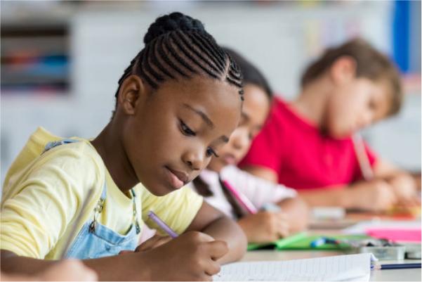children writting